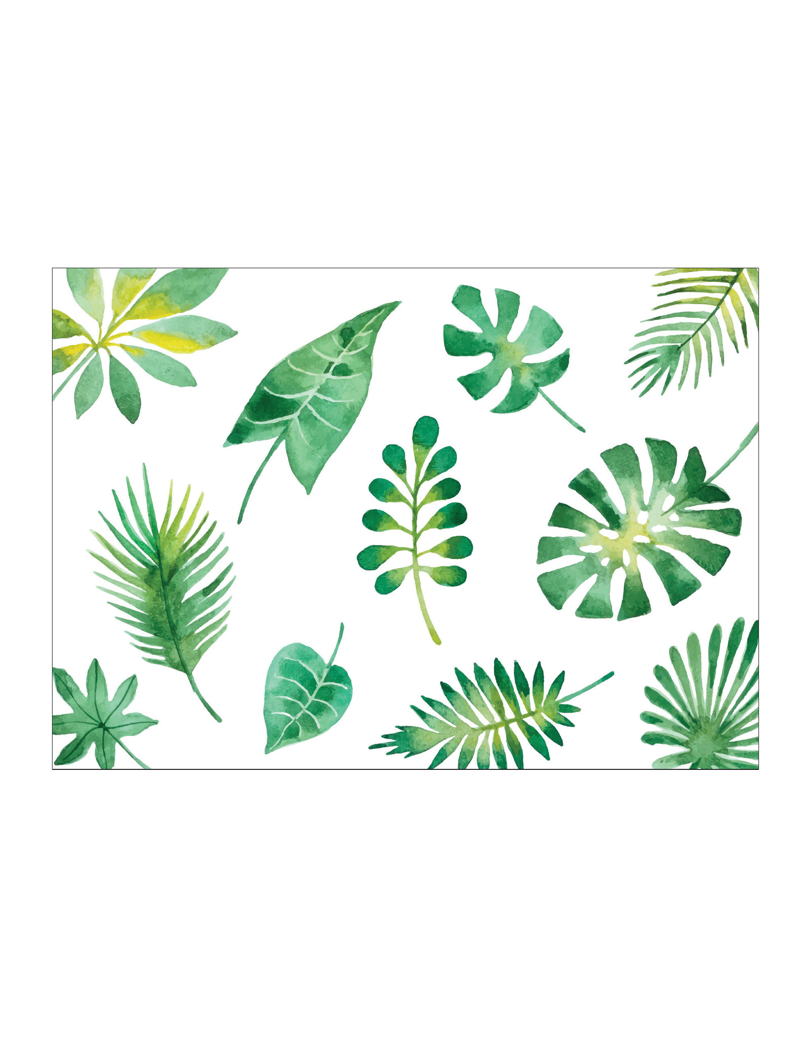 Postkaart tropical leafs