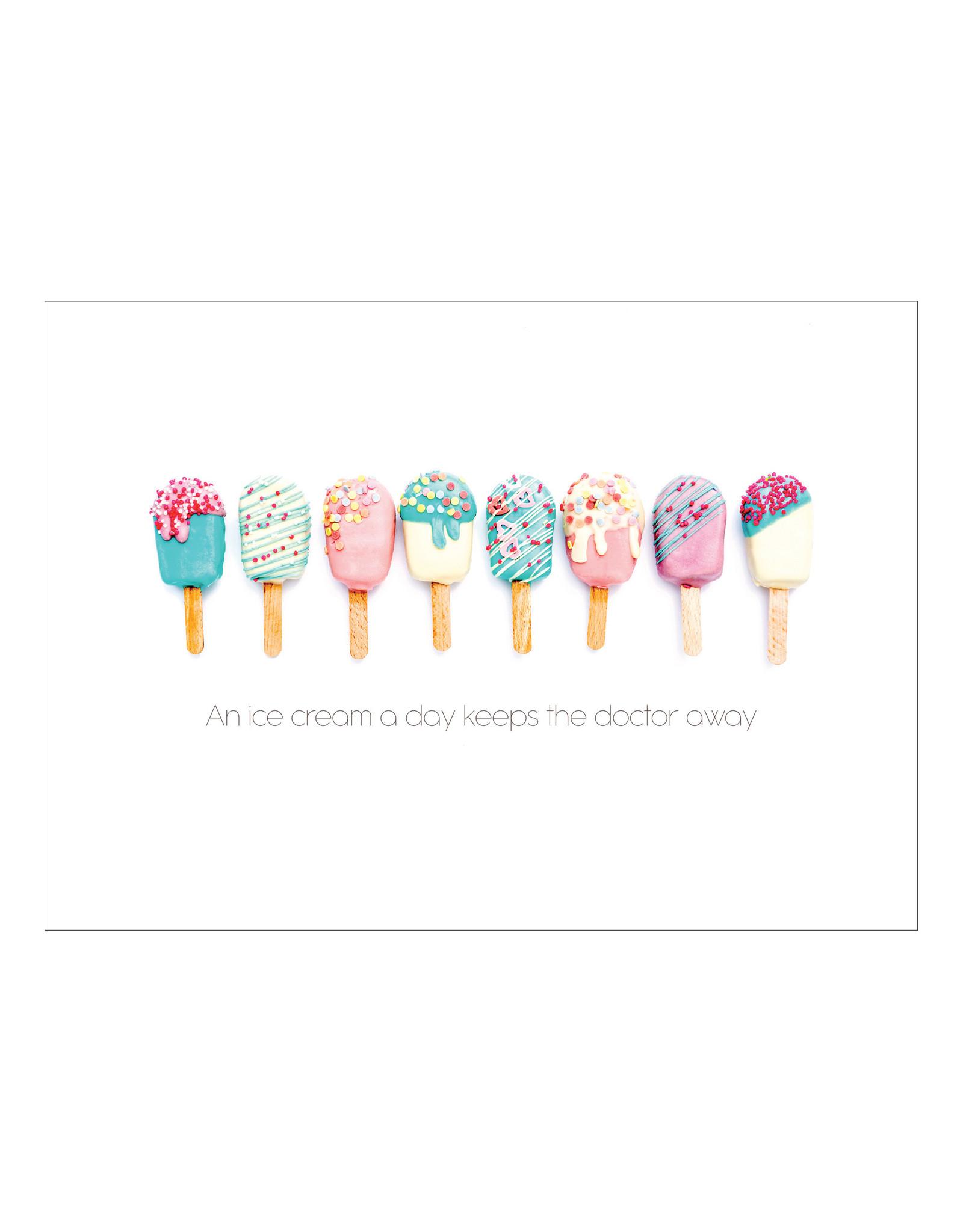 Postkaart An ice cream a day