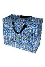 XL zak bloemen blauw