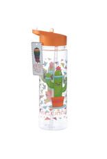 Drinkfles met rietje cactus