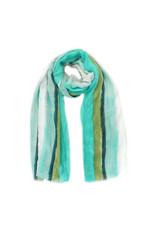 Sjaal verfstrepen groen
