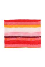 Sjaal verfstrepen rood/roze