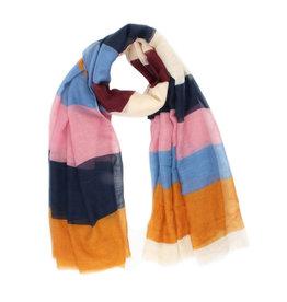 Sjaal strepen multicolor