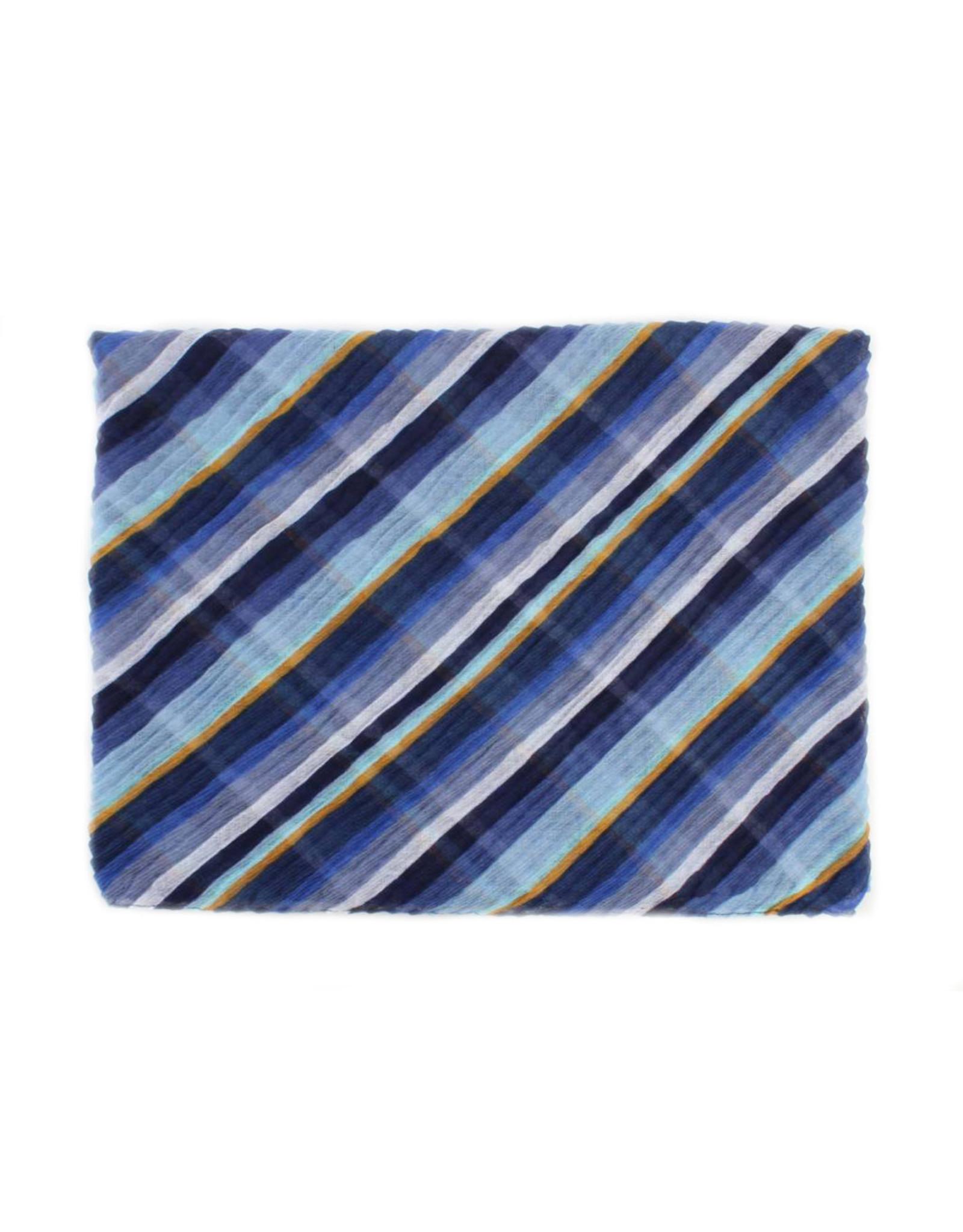 Sjaal gestreept blauw