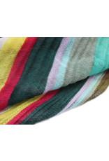 Sjaal gestreept groen