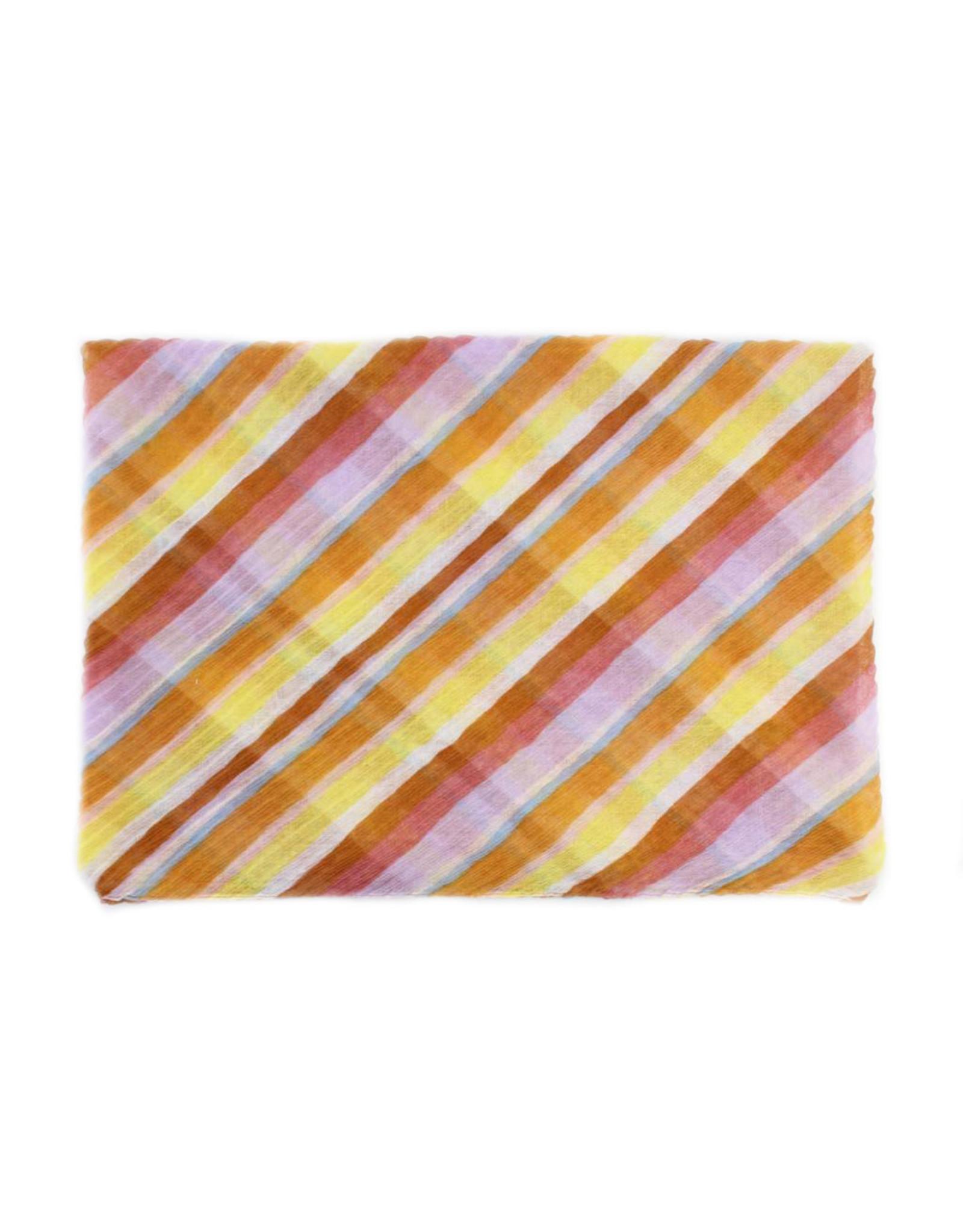 Sjaal gestreept geel