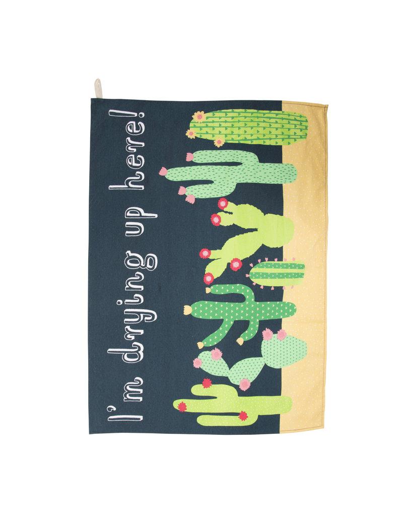 Keukenhanddoek cactus
