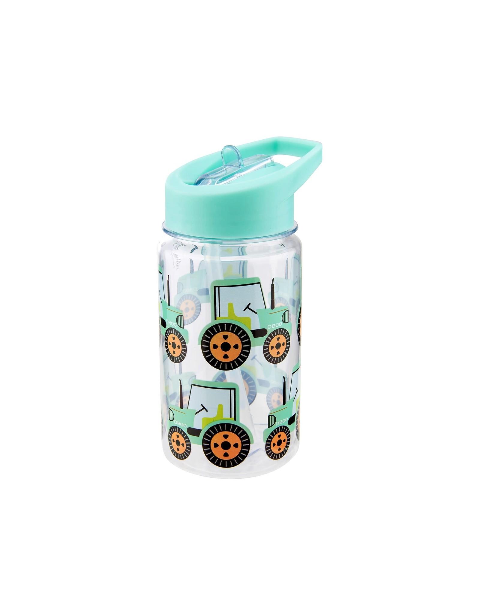 Drinkfles met rietje tractor