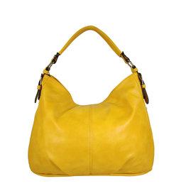 Handtas baggy XL geel
