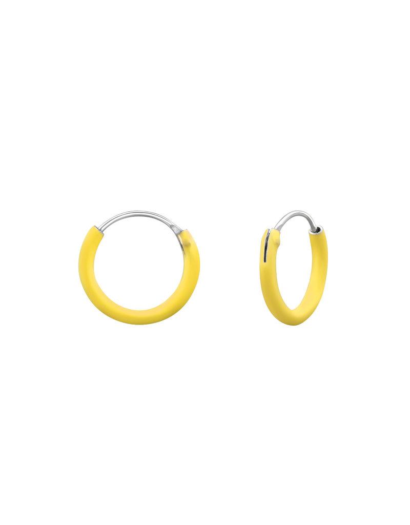 Ringetjes zilver geel