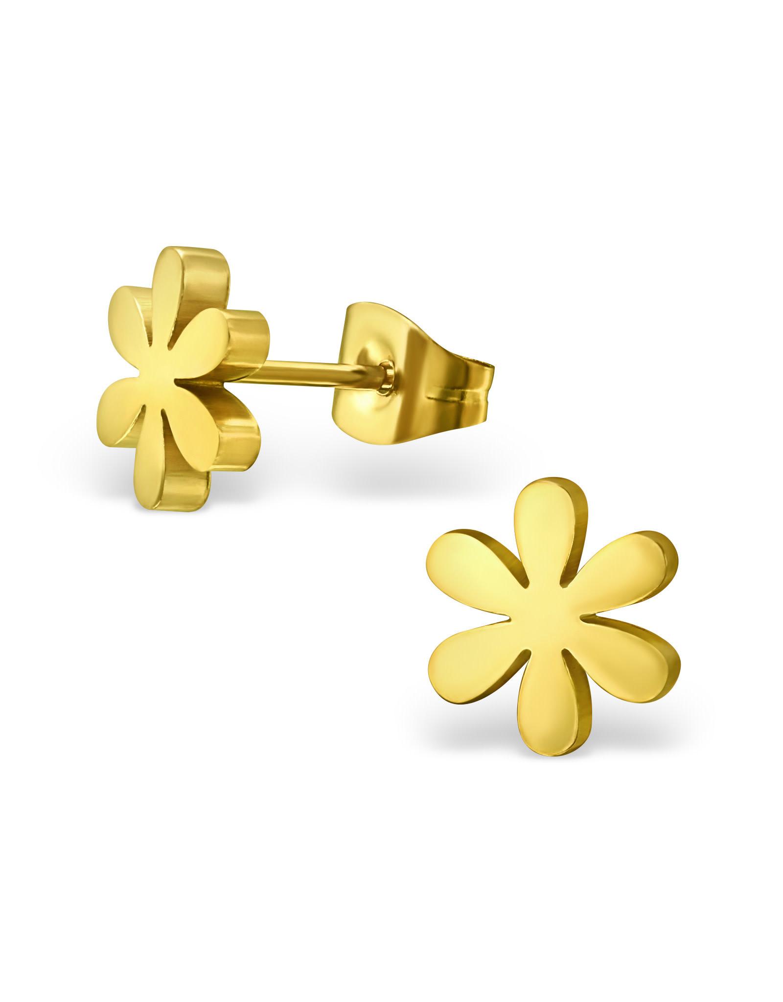 Stekertjes bloem goudkleurig