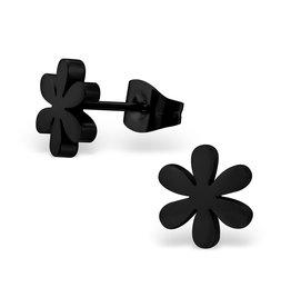 Stekertjes zwart bloemetje