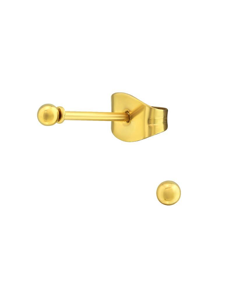 Stekertjes bolletje 2mm goudkleurig