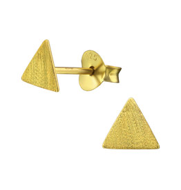 Stekertjes zilver verguld driehoek mat