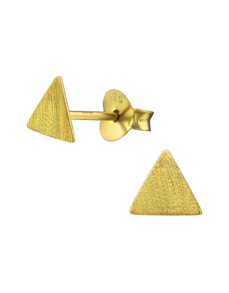 Stekertjes driehoek mat goudkleurig