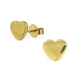 Stekertjes hart goudkleurig