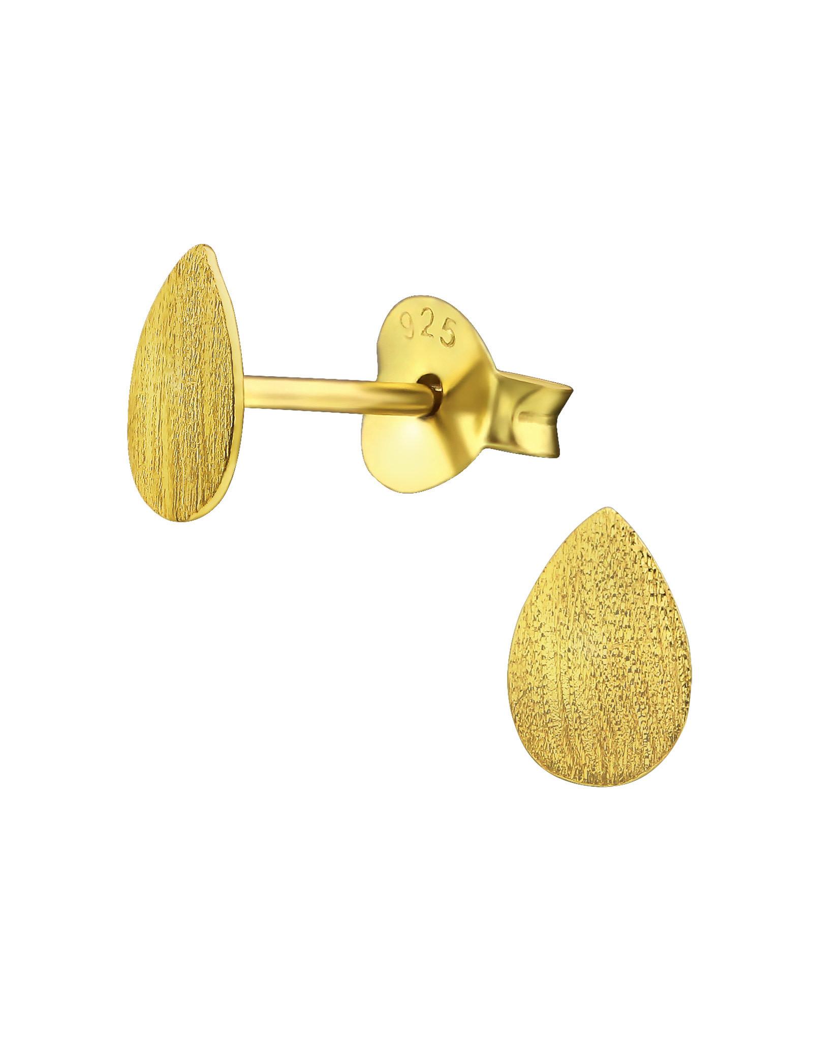 Stekertjes druppel mat goudkleurig