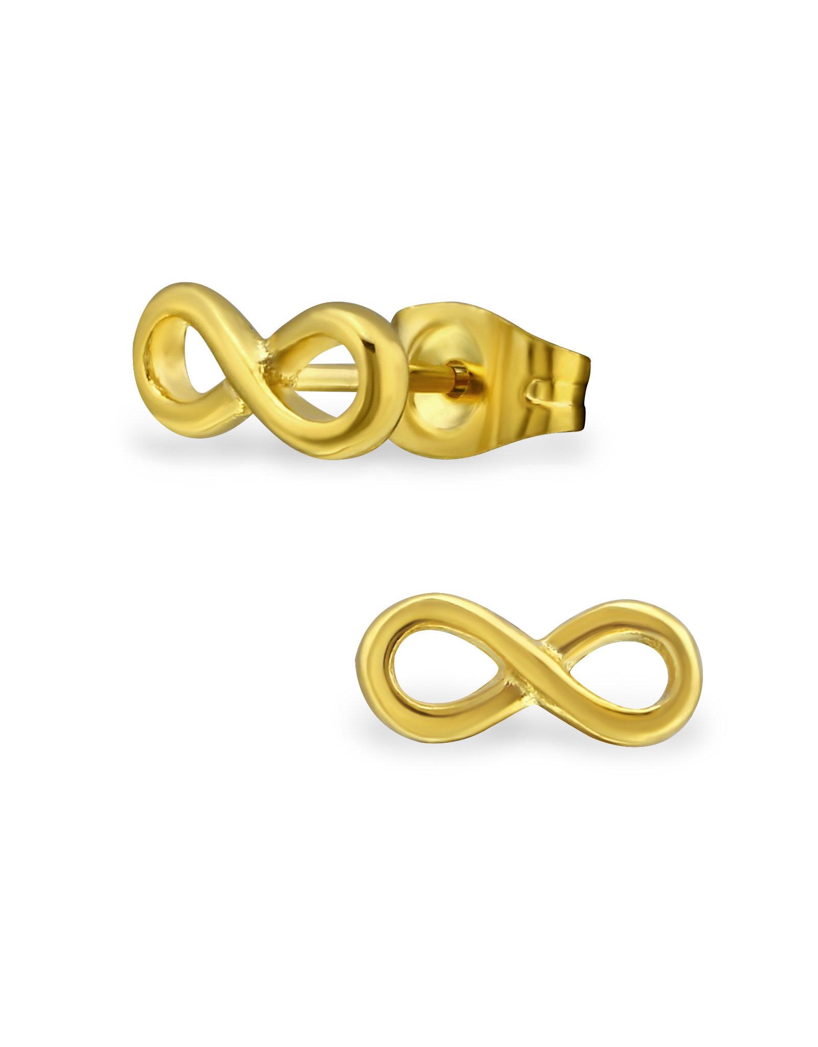 Stekertjes infinity breed goudkleurig