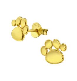 Stekertjes hondenpootje goudkleurig