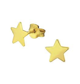 Stekertjes ster goudkleurig