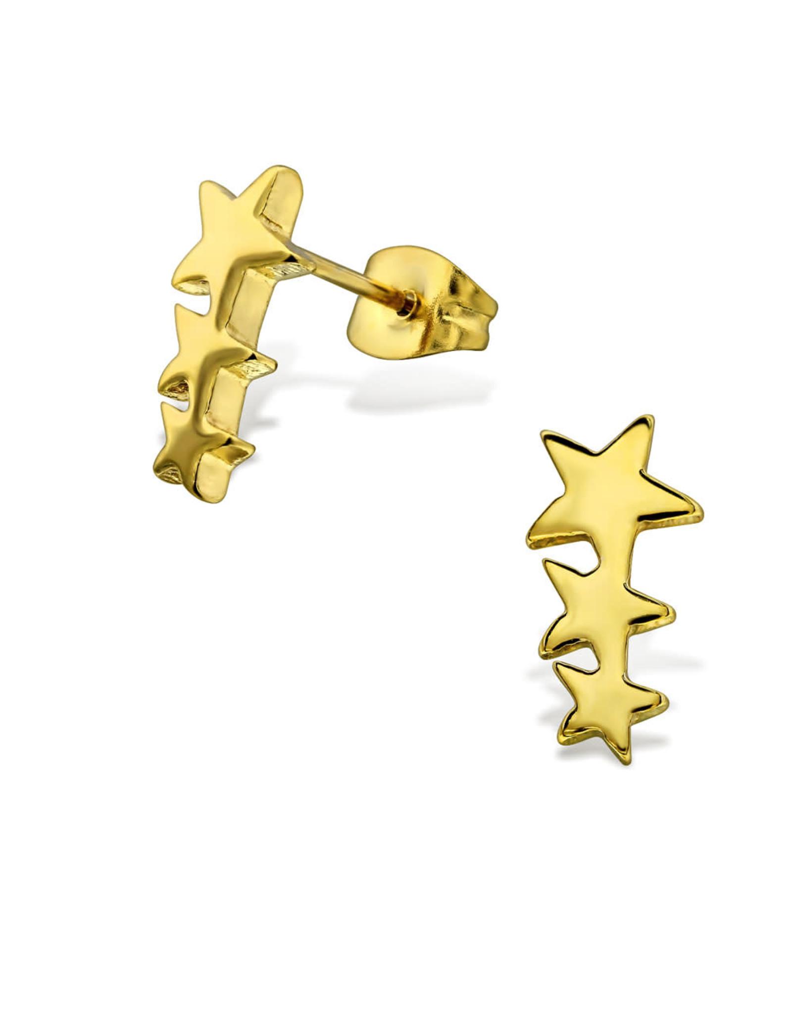 Stekertjes sterren goudkleurig