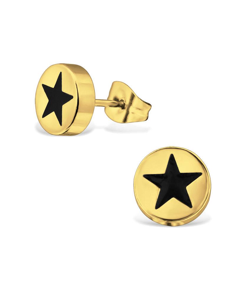 Stekertjes rondje ster goudkleurig