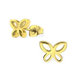 Stekertjes vlinder goudkleurig