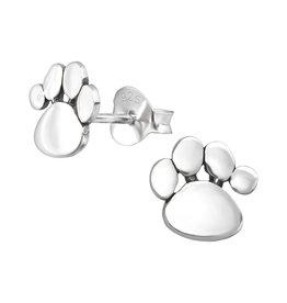 Stekertjes zilver hondenpootje
