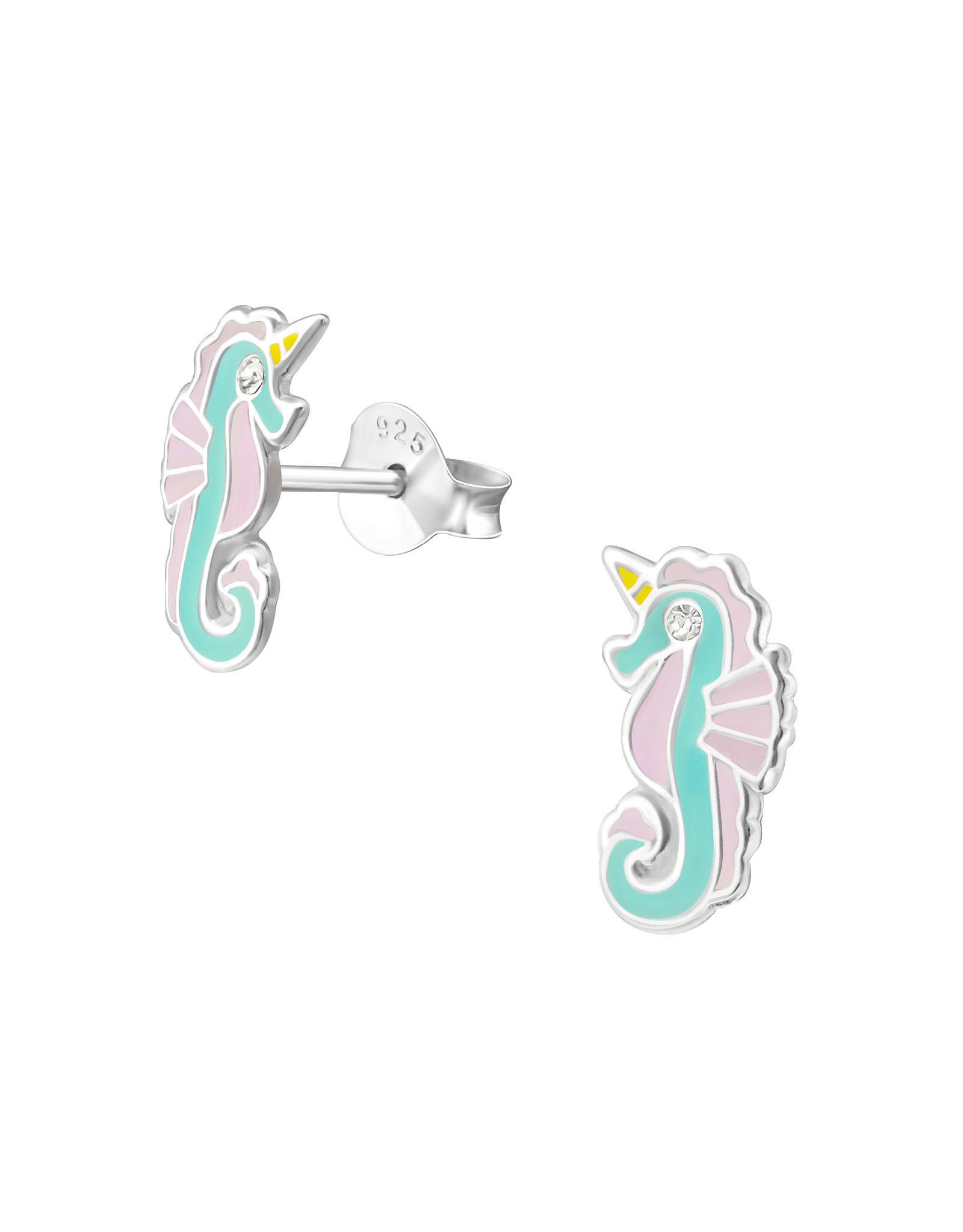 Stekertjes zilver zeepaardje