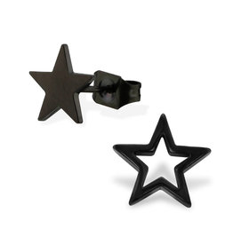Stekertjes zwart ster asymmetrisch