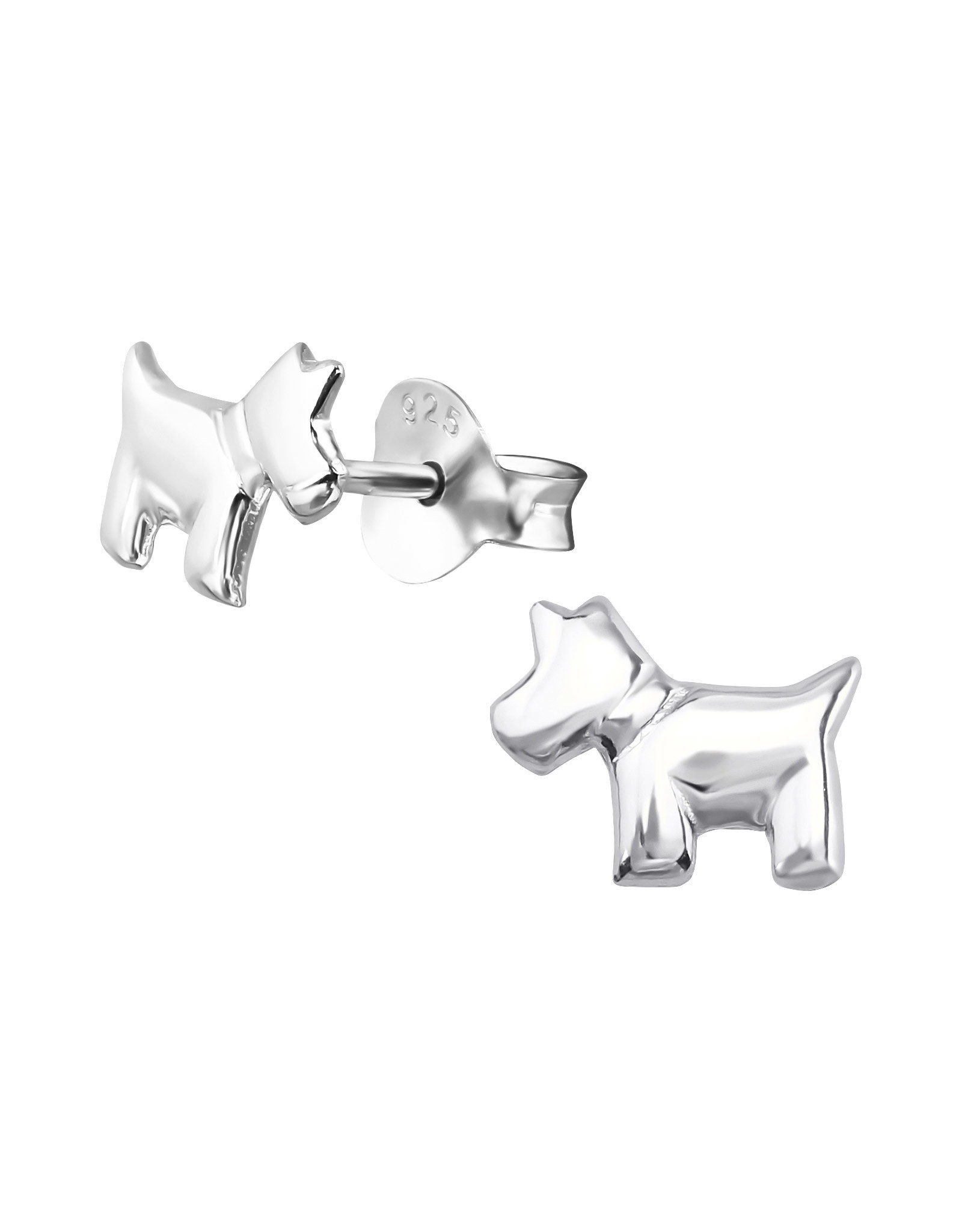 Stekertjes zilver hond