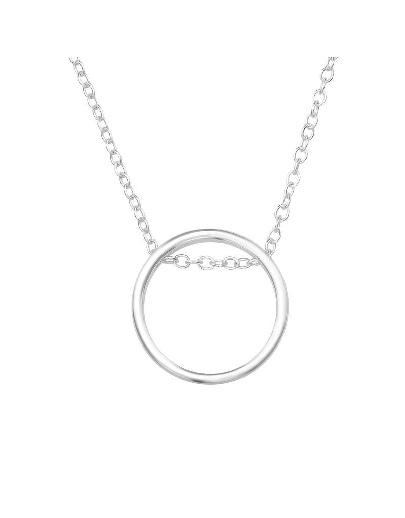 Hangertje zilver cirkel