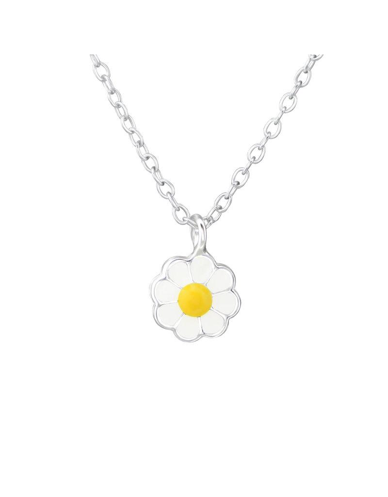 Hangertje zilver bloem