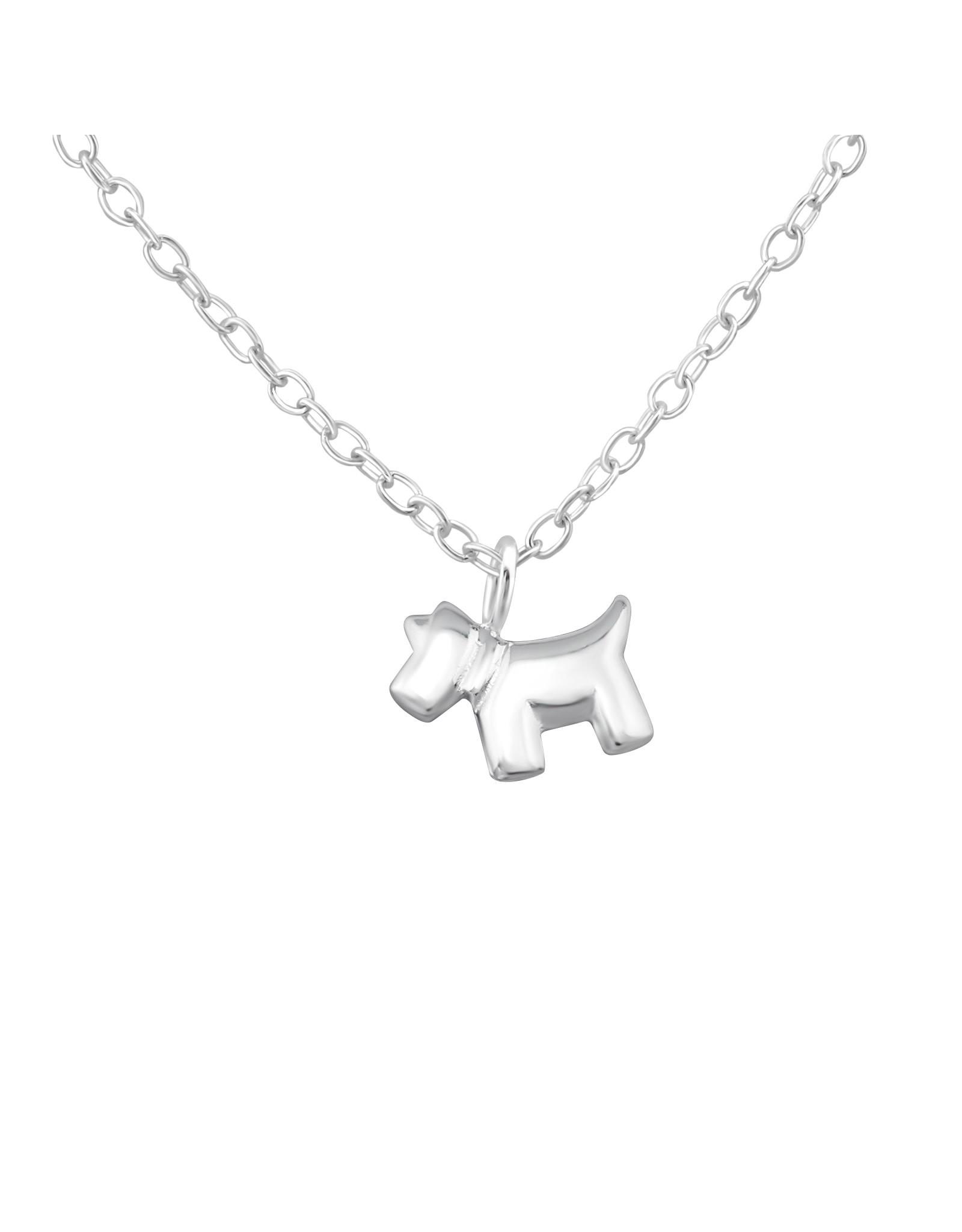 Hangertje zilver hond