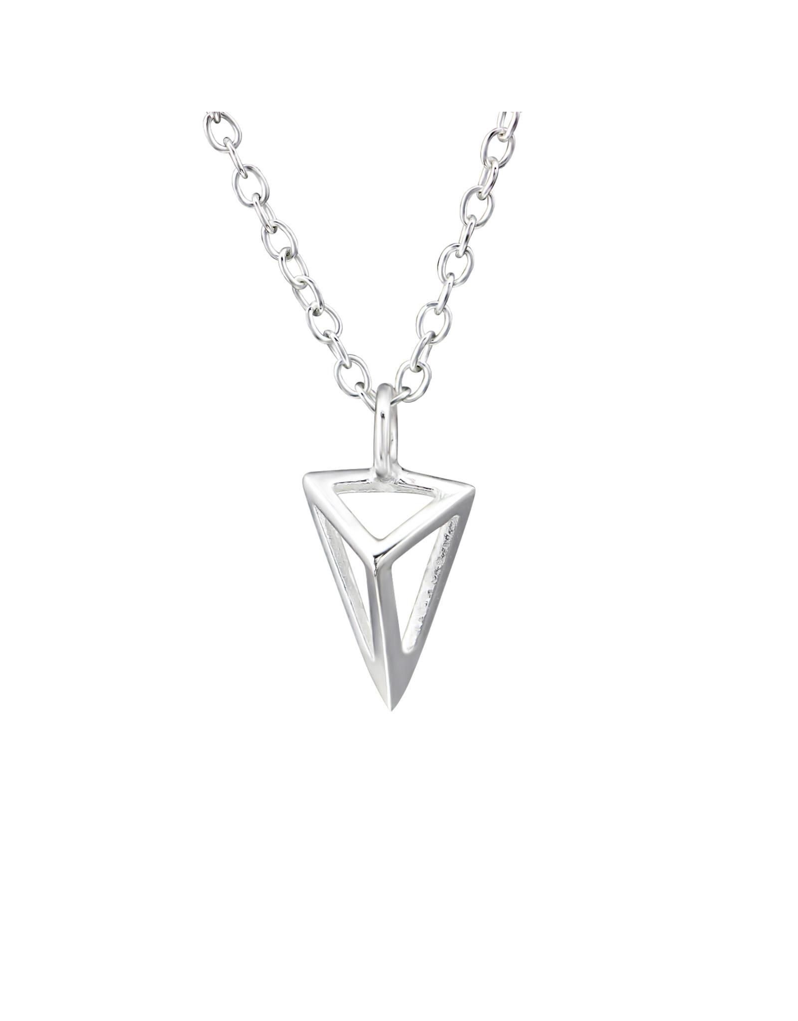 Hangertje zilver piramide