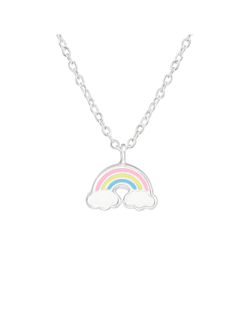 Hangertje zilver regenboog pastel