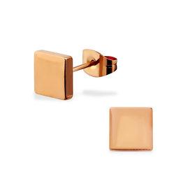 Stekertjes RVS vierkant rosé