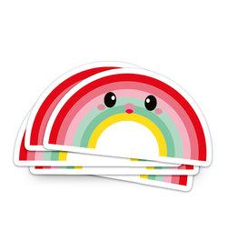Sticker vinyl regenboog