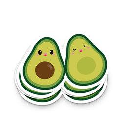 Sticker vinyl avocado