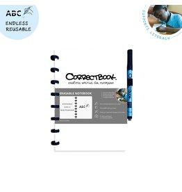 Correctbook A5 gestipt wit