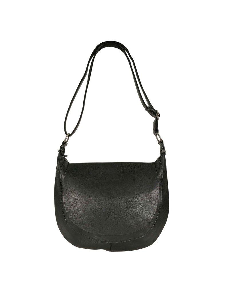 Handtas afgerond zwart