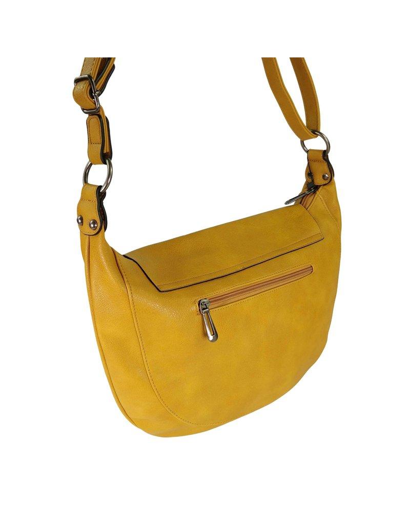 Handtas afgerond geel