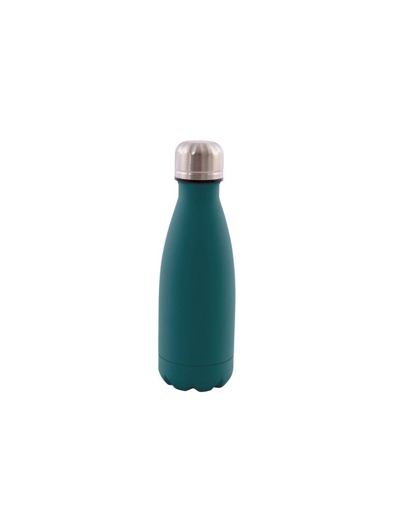 Dubbelwandige fles RVS petrolgroen 350ml