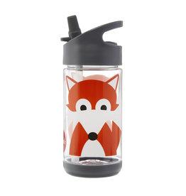 Drinkfles met rietje vos