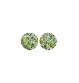 oorbEllen stekers plat 12mm spikkel groen
