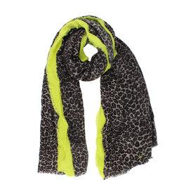 Sjaal leopard geel
