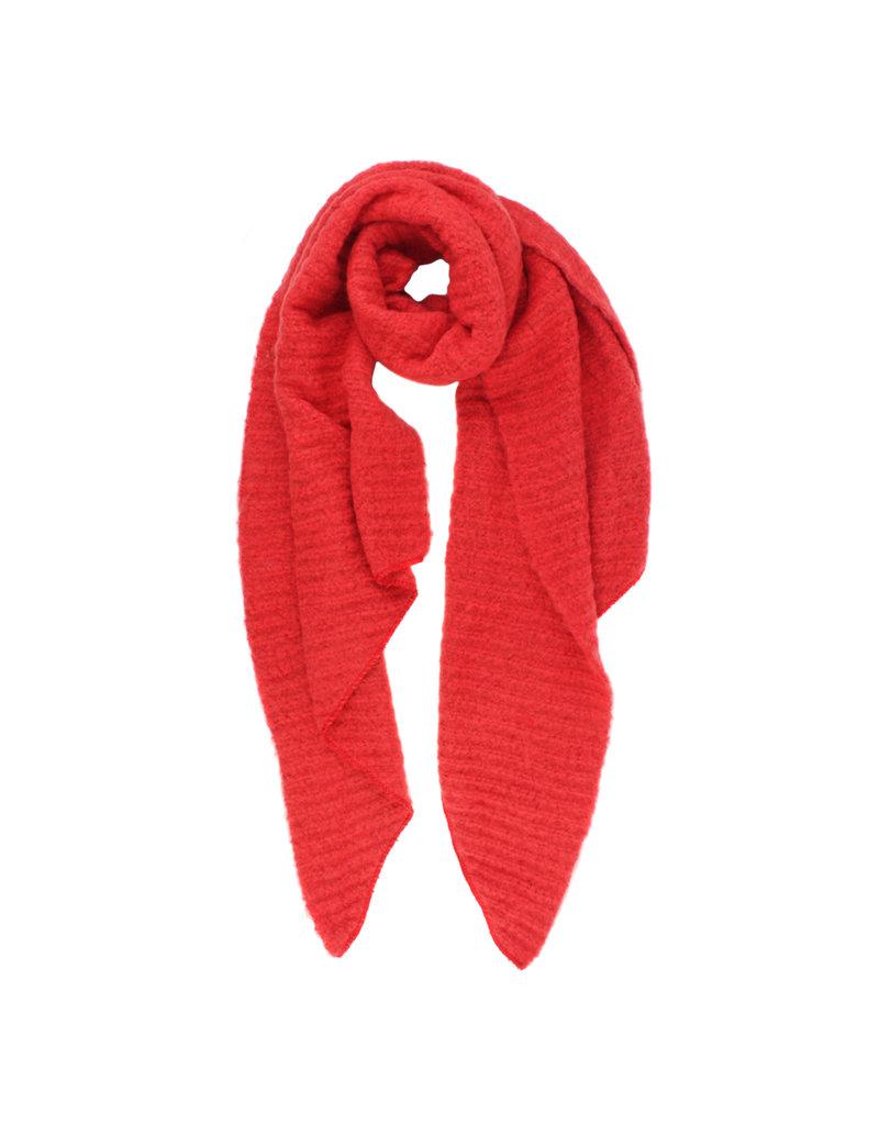 Sjaal schuin rood