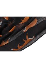 Sjaal vos zwart