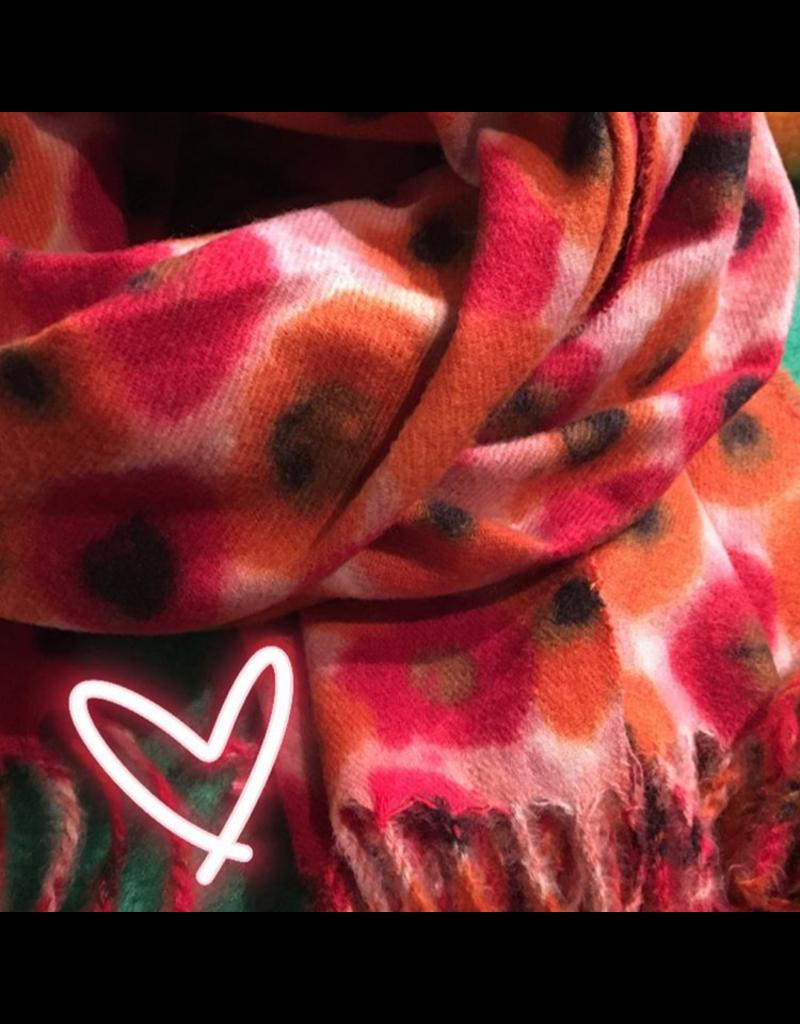 Sjaal klaproos rood