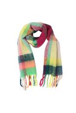 Sjaal geruit geel/roze/blauw/groen